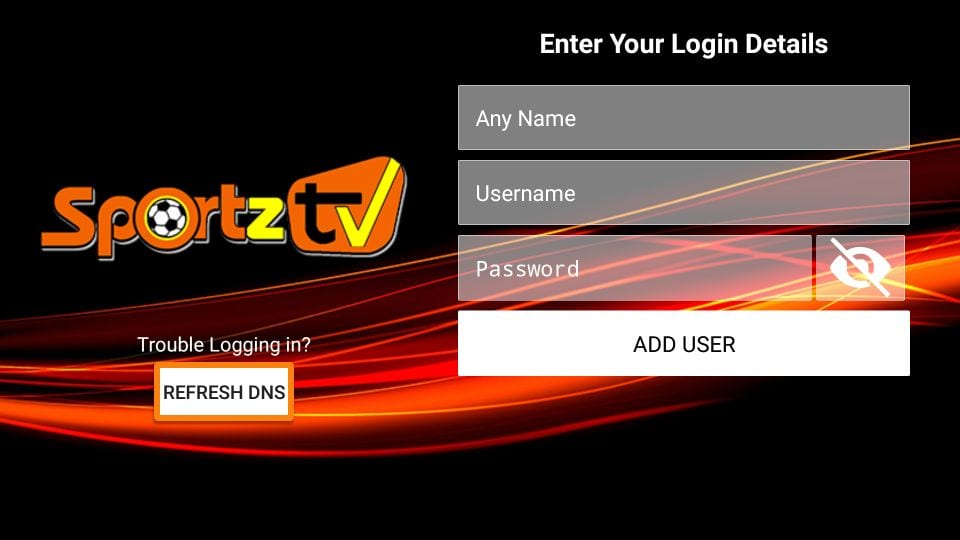 Sportz TV channels load no problem