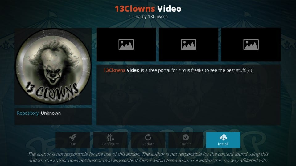 kako namestiti 13clowns video addon na kodi