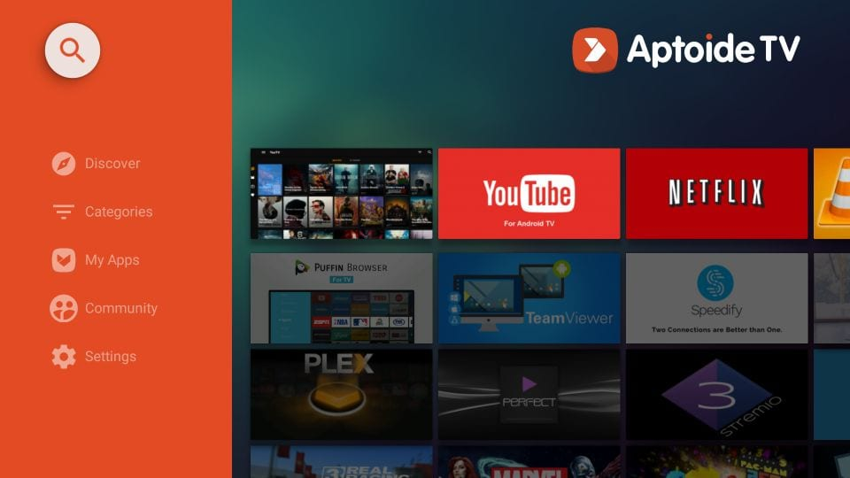 søk aptoide på amazon Firestick