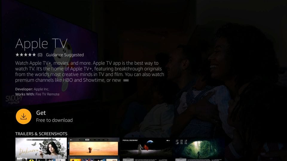 unduh apple tv di Firestick
