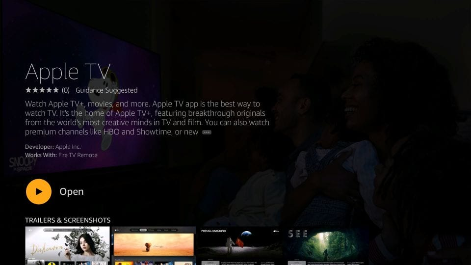 instal apple tv pada tongkat api