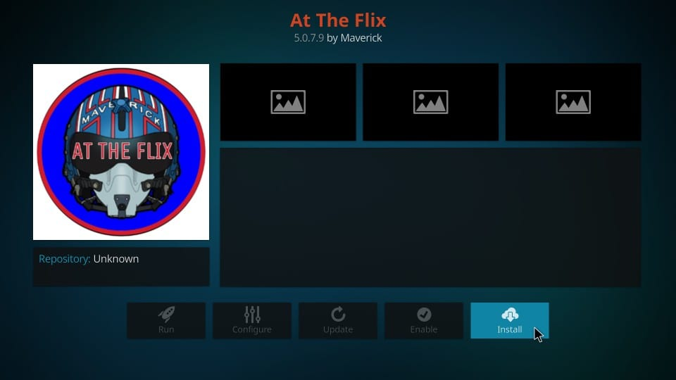 how to install at the flix kodi addon