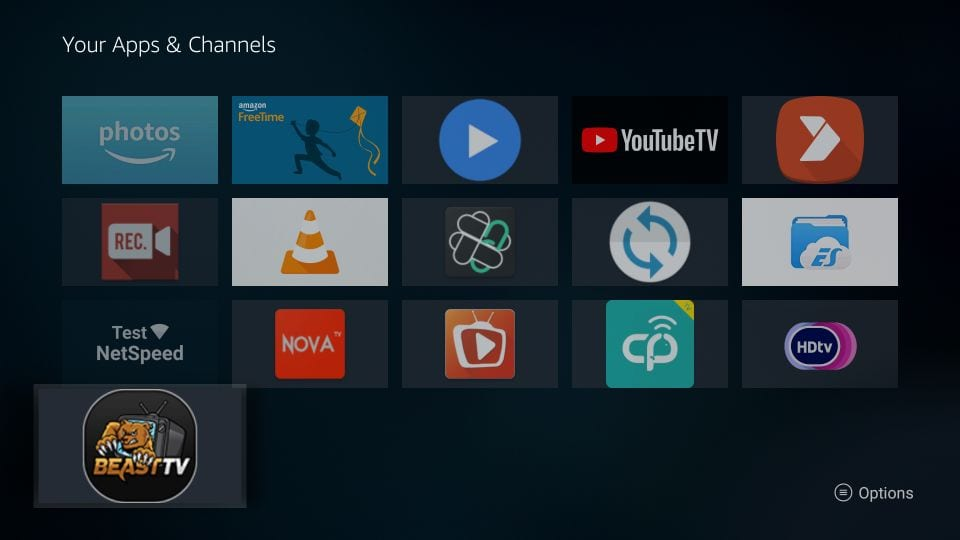 your apps & channels page