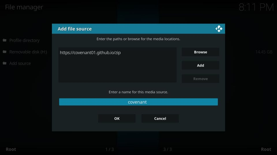 Kodi Covenant Addon