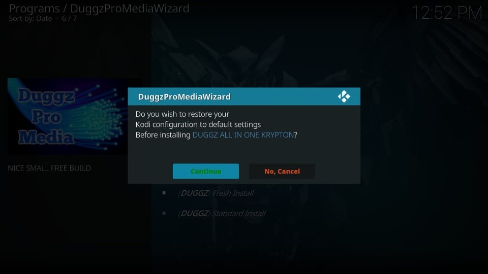 cara menginstal duggz build di kodi