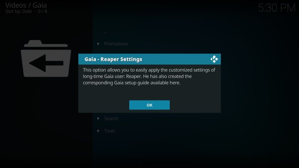 install gaia addon on kodi