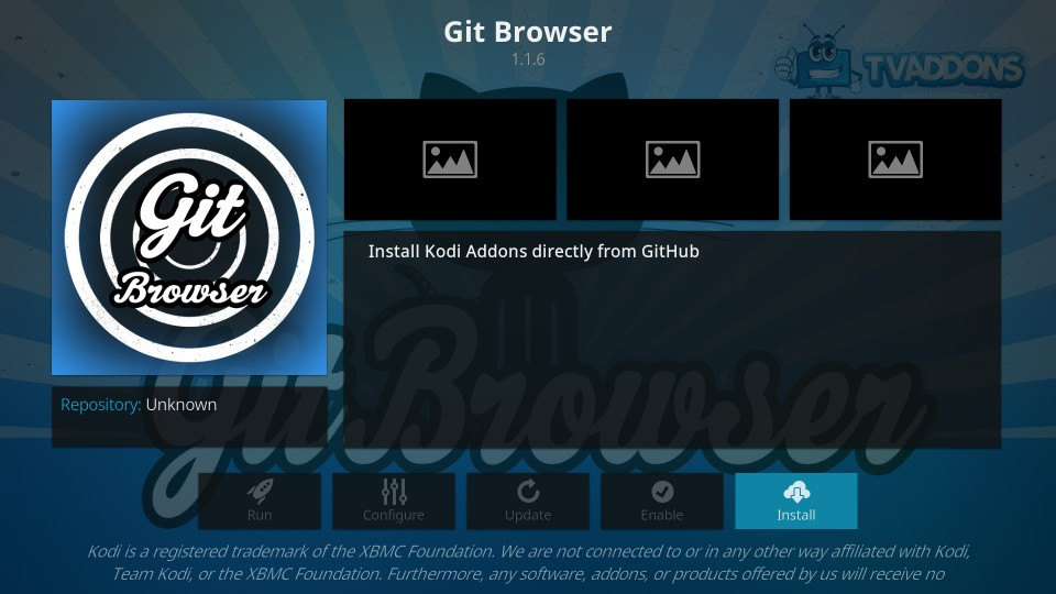 git browser på kodi