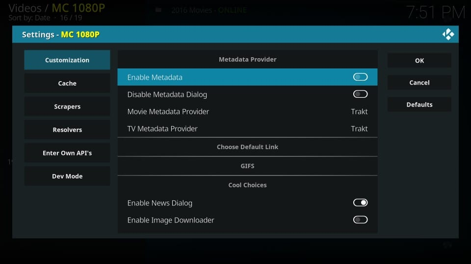 mc 1080p kodi addon metadata-behandling
