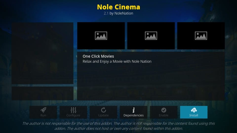 how to install nole cinema addon on kodi