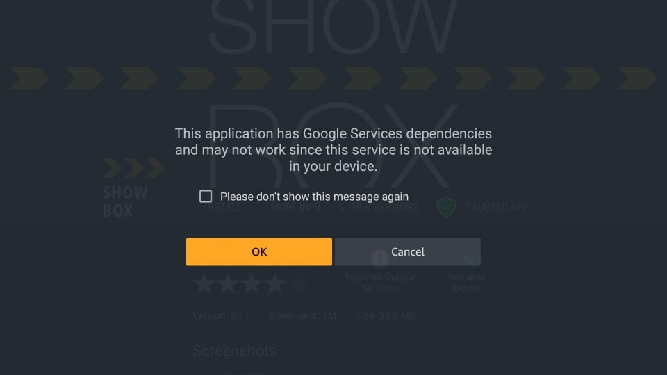 installer showbox apk på firestick