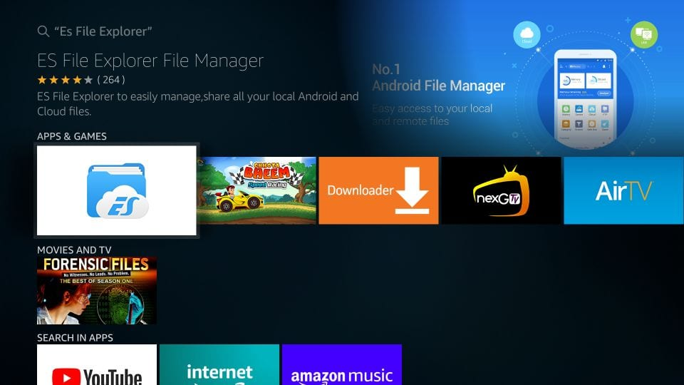 es file explorer para amazon firestick