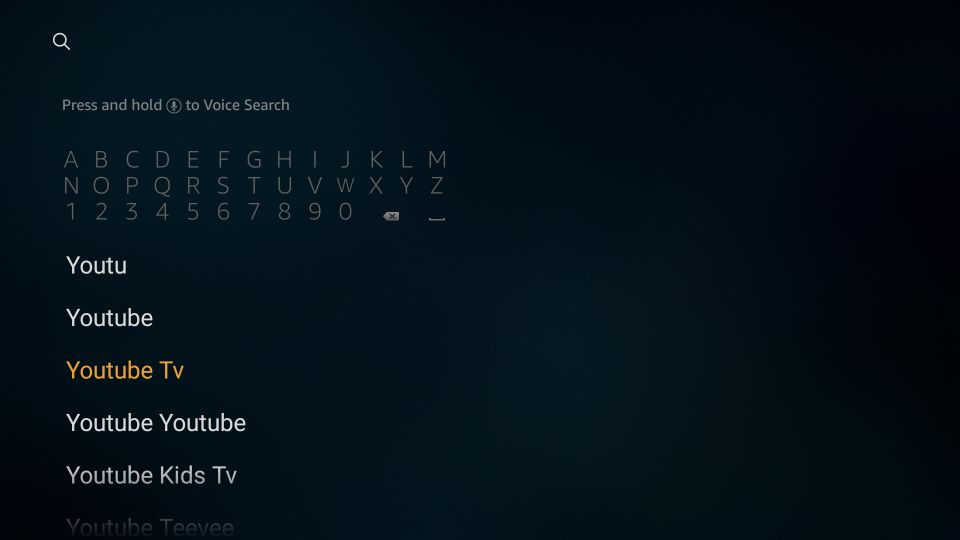 installera youtube tv firestick app