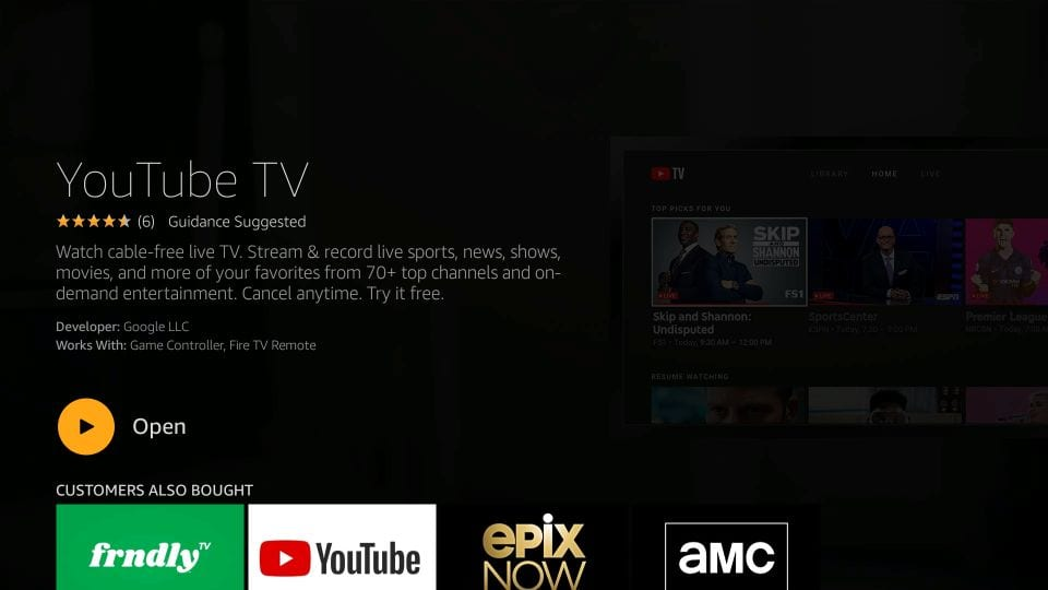 youtube tv firestick