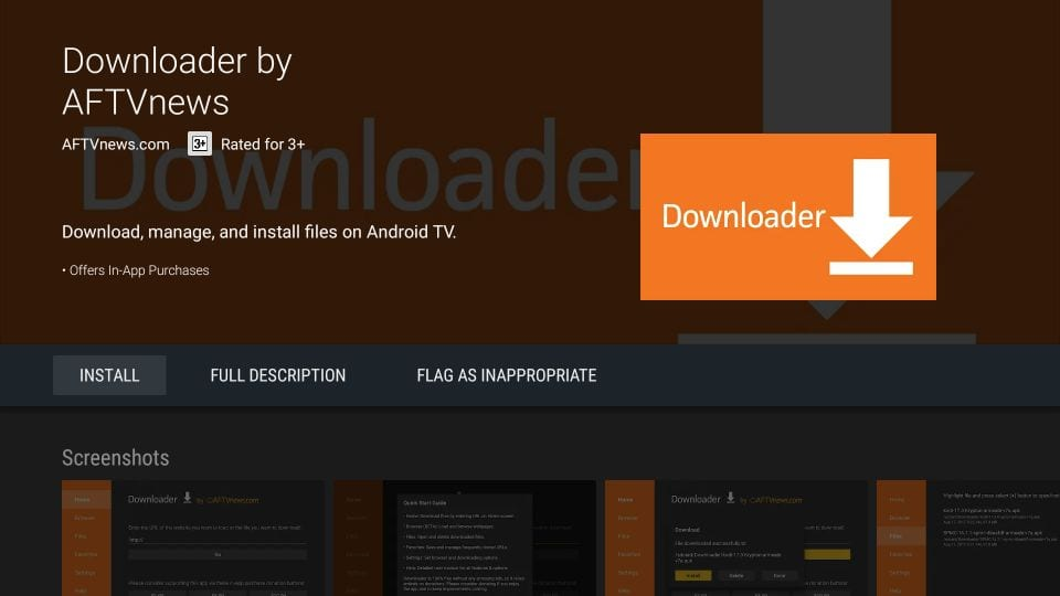 installer downloader på Android tv