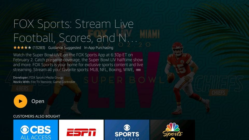 come installare l'app fox sports su firestick